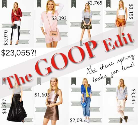 The GOOP Edit - How to get Gwyneth Paltrow's spring looks for less