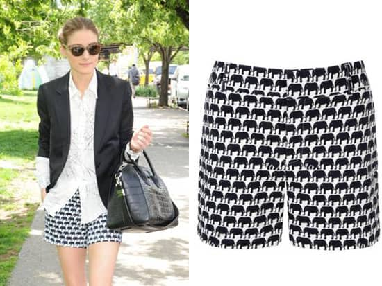 Olivia Palermo Elephant Shorts from the new Banana Republic Milly Collection