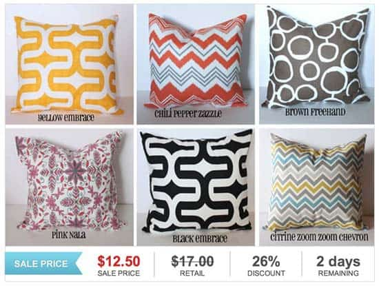 Pillow Covers from GroopDealz