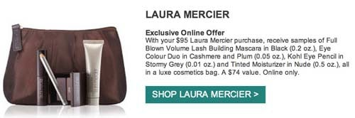 laura mercier free gift with purchase
