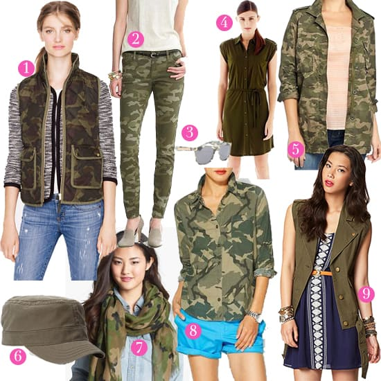 Key Camouflage Pieces for Fall 2013