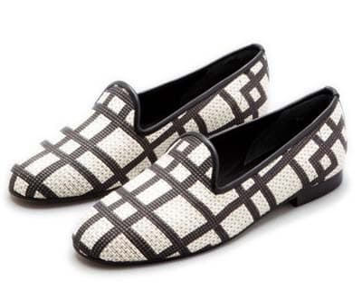 Black and White Loafers