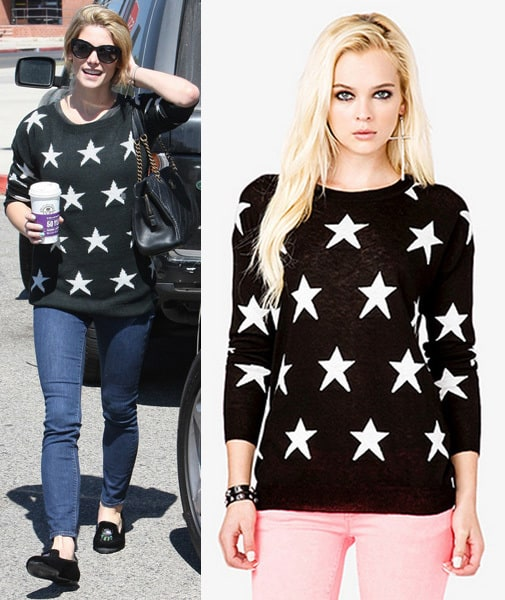 Ashley Greene Star Sweater
