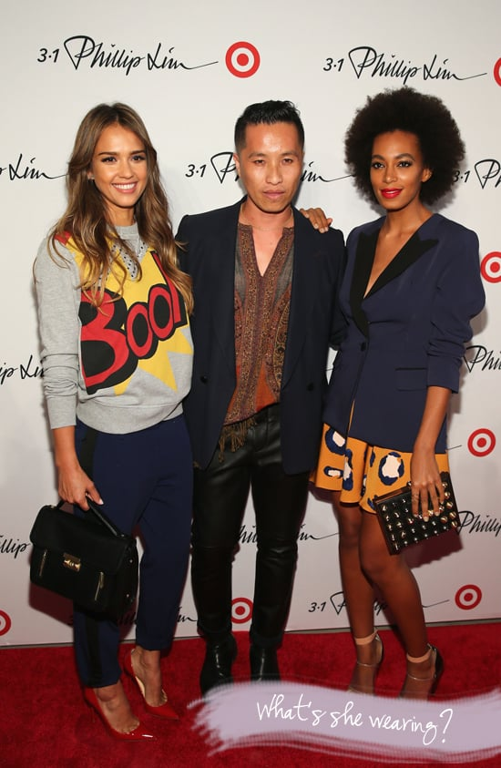 Jessica Alba and Solange Knowles at Phillip Lim Launch Party