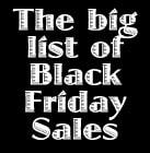 the big list of black friday sales