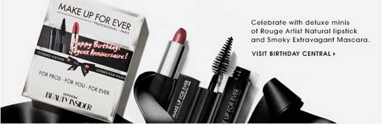 2014 Sephora Beauty Insider Birthday Gift