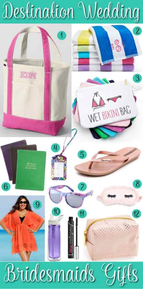 Wedding Wednesday: Destination Wedding Bridesmaid Gift Ideas