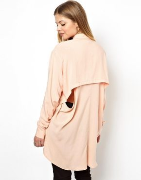 Tunic Blouse with Cut Out Back