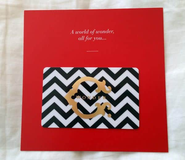 C.Wonder Gift Card