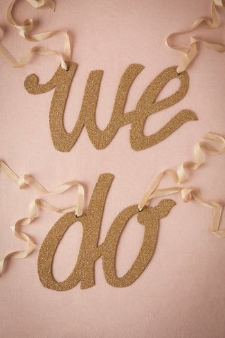 We Do Chair Banner from BHLDN