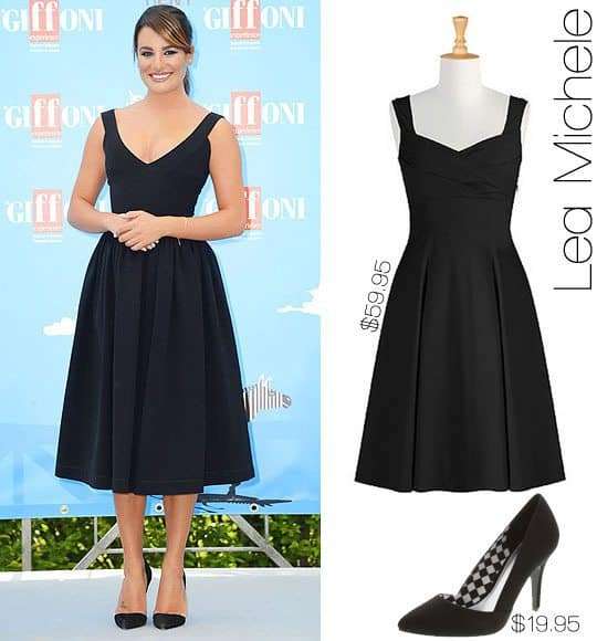Steal This Look: Lea Michele's Retro Little Black Dress