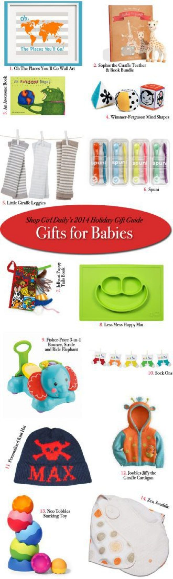 Baby Gifts For Christmas 2014 : Holiday gift guide gifts for babies girl daily