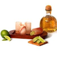 Himalayan Sea Salt Shot Glasses & Tray