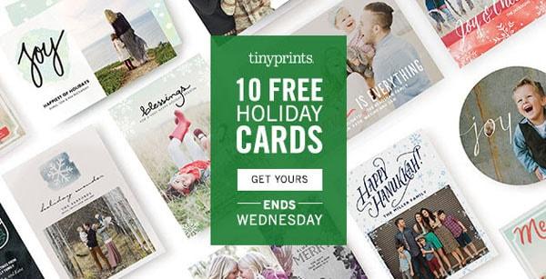 10 Free Holiday Cards at TinyPrints