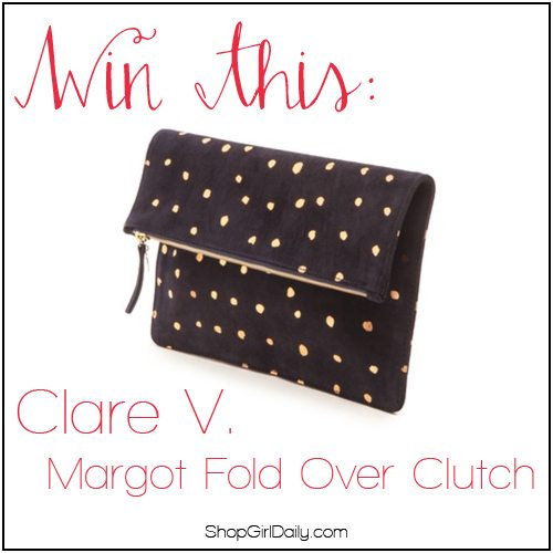 Giveaway: Win a Clare V. Margot Fold Over Clutch