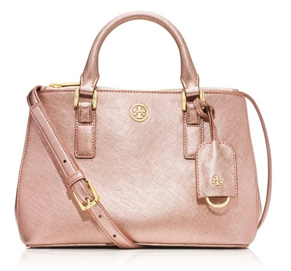 Rose gold Robinson Micro Double-Zip Tote