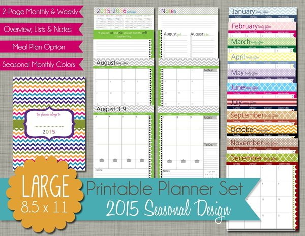 Free Printable Planner Set from  The Polka Dot Posie