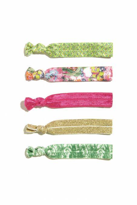 5-Pack Ribbon Elastics Nosie Posey
