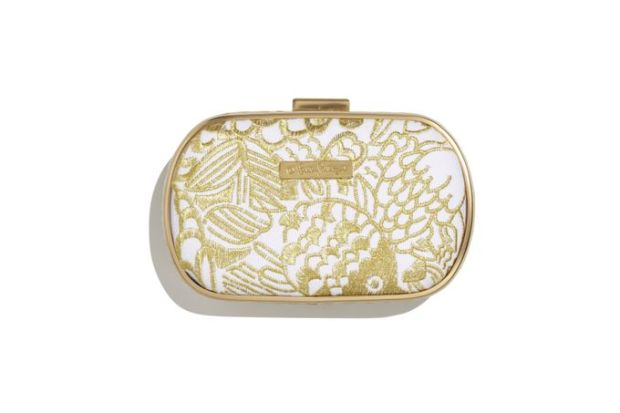 Embroidered Clutch Gold