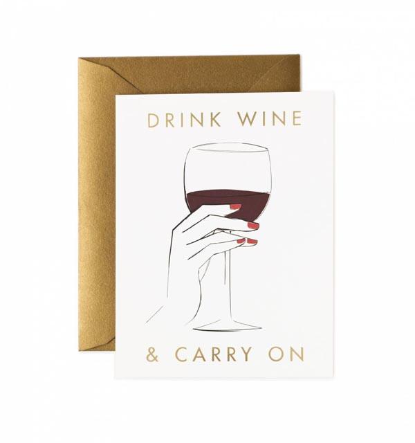 Drink Wine Card