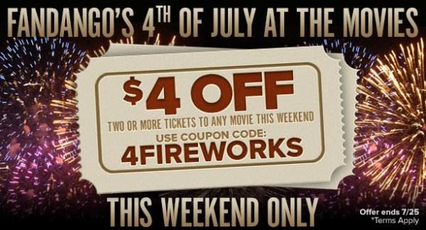 Fandango 4th of July Deal