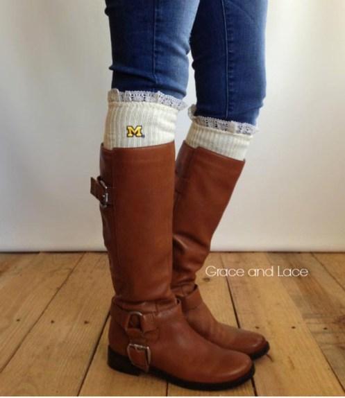 Grace & Lace Collegiate Boot Socks