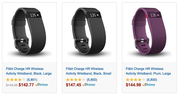 Fitbit Charge HR Sale at Amazon