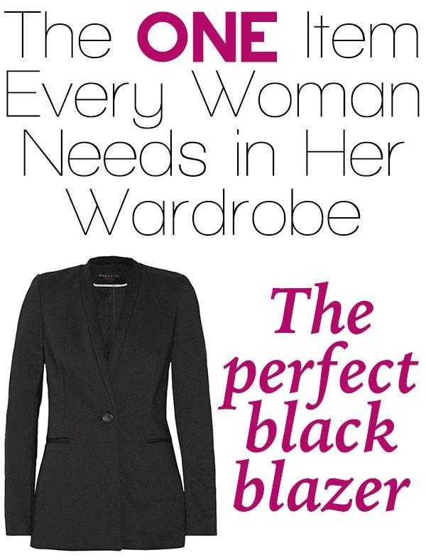 One wardrobe item every woman needs: The perfect black blazer - ShopGirlDaily.com