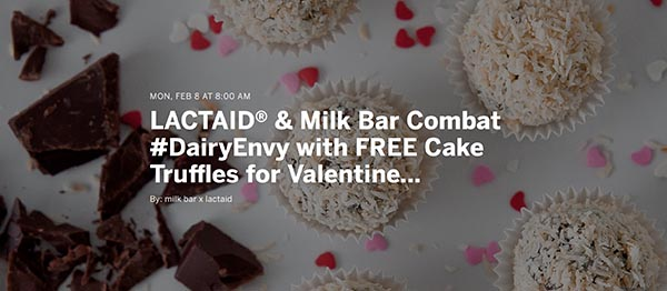 Free Cake Truffles from Milk Bar
