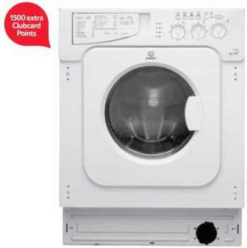 Indesit Ecotime Built-in Washer Dryer, IWDE126, 6KG Load, White