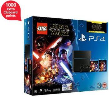 Lego Star Wars + Force Awakens Blu-ray PS4 500GB Console