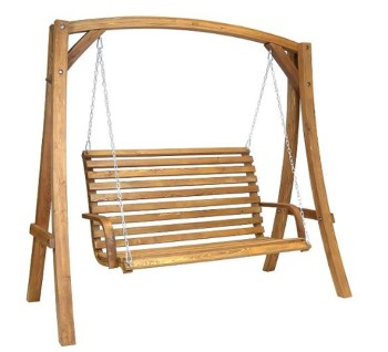 bentley wooden garden swinging seat double clubcard points