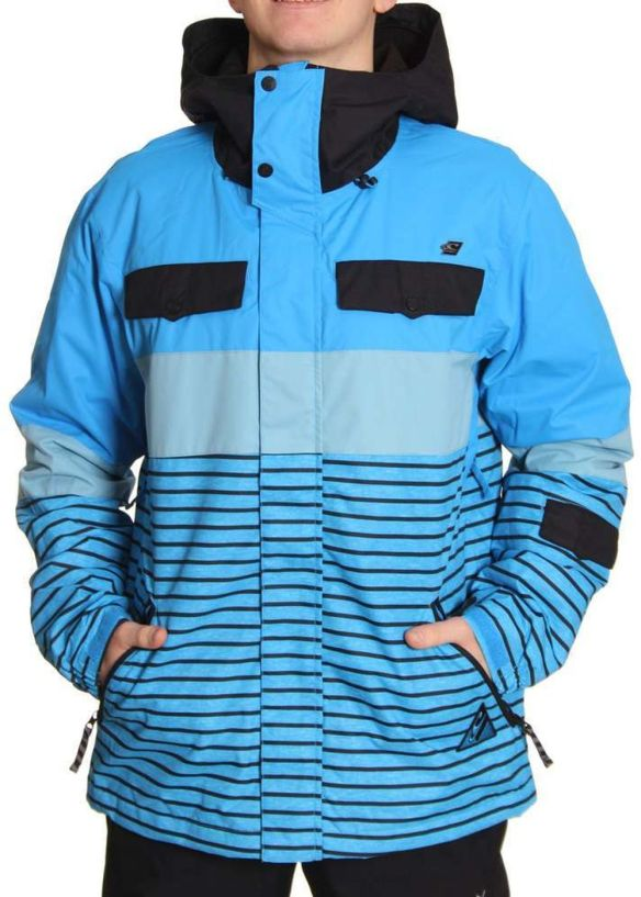 ONEILL FREEDOM FUTURE STRIPE SNOW JACKET Dres Blue