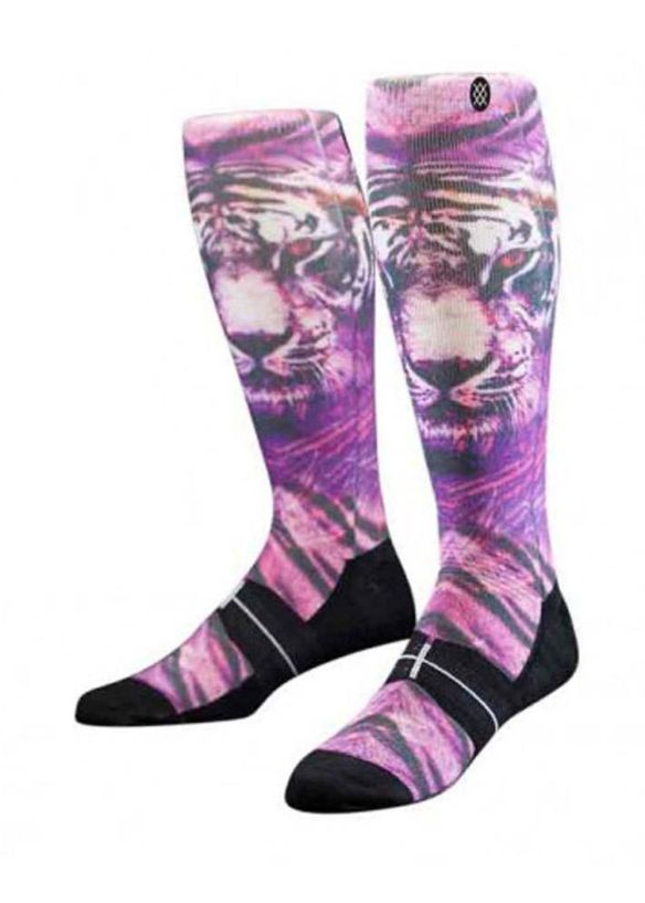 STANCE WHITE BENGAL SNOW SOCKS Purple