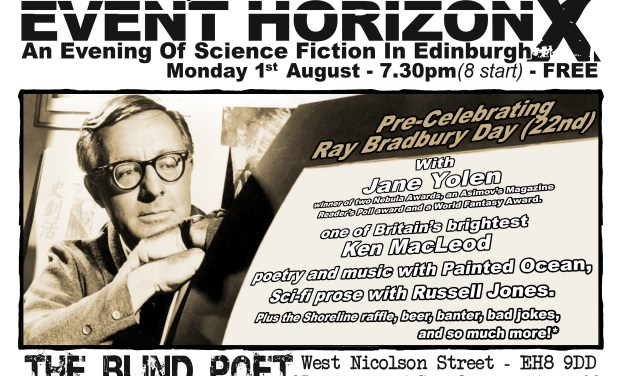 Event Horizon 10 – Science Fiction night at the Blind Poet, 1st August 2016