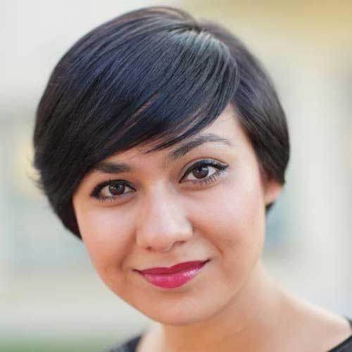25 Pretty Short Hairstyles for Chubby Round Faces - crazyforus