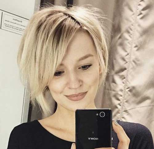 Blonde Short Haircuts for Round Faces