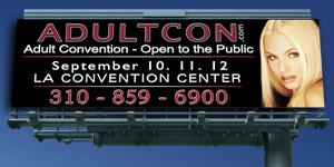 picture of a highway billboard for Adultcon