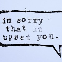 MY APOLOGIES (AND OTHER NON-APOLOGIES)