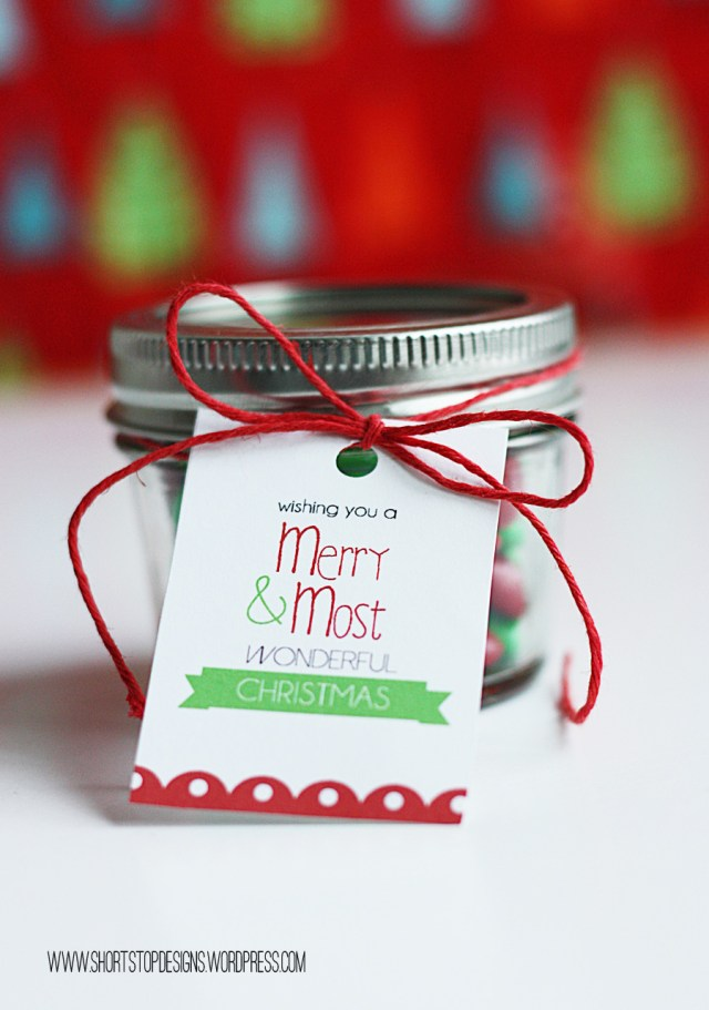 M&M Gift Tag