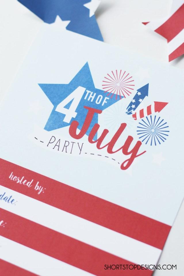 4TH OF JULY INVITATION PRINTABLE