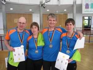 DBSV Benni,Antje,Andreas,Sabrina Siegerehrung