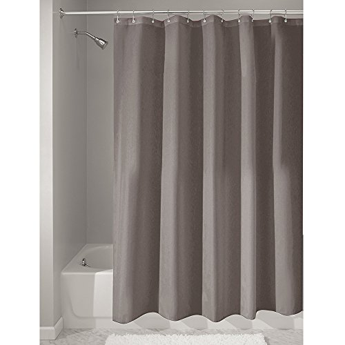 interdesign mildewfree fabric shower curtain 72inch by 72inch dark taupe