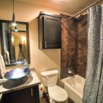 Awesome guest bathroom with modern bowl sink