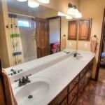 Double-vanities in jack-and-jill bathroom