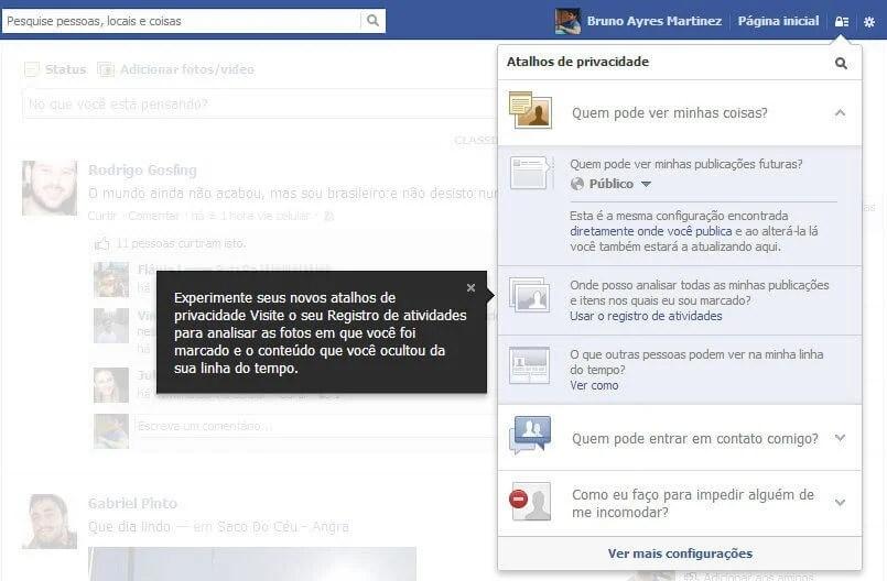 Facebook Privacy new privacidade