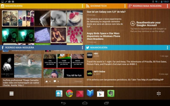 Chameleon Laucher no Motorola Xoom MZ605 umts_everest em portrait (homescreens)