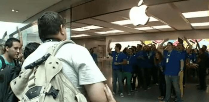 Primeira Apple Store brasileira é inaugurada no Rio de Janeiro / reprodução: TV Bandeirantes
