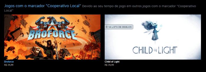 Recomendação Steam - Coop Local