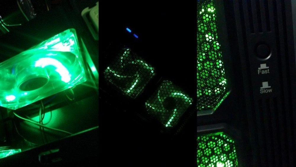 Fans e LEDs - Xtrike V9 - Showmetech
